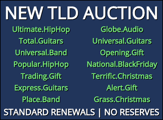 New TLD Auctions!