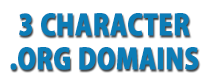 3 Character .org Domains