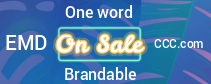 One word, EMD, Brandable Domains  No Reserve Auction Bid Now